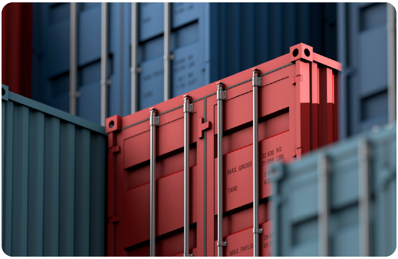 Shipping containers for a multimodal consolidator