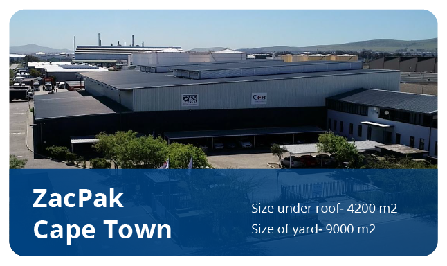 ZacPak Cape Town warehouse